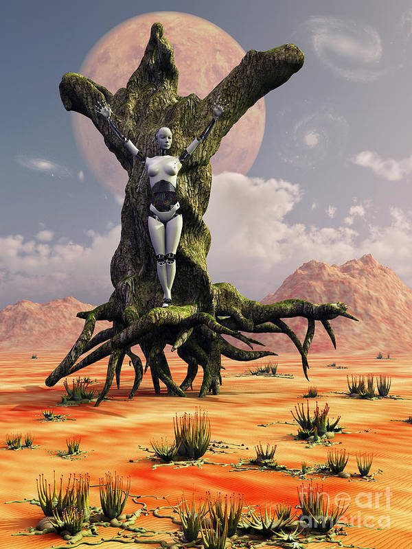 Nature Poster featuring the digital art The Crucifixion Of A Messianic Martyr by Mark Stevenson