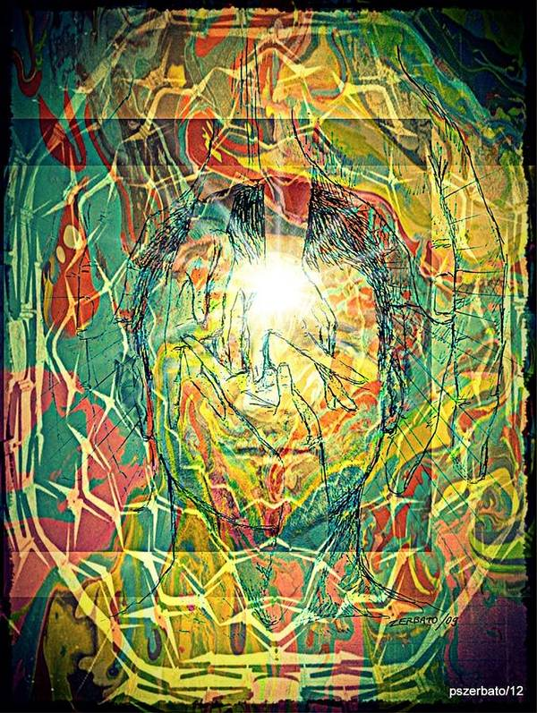 Life Poster featuring the digital art What Really Matters Is The Light That Shines In Us by Paulo Zerbato