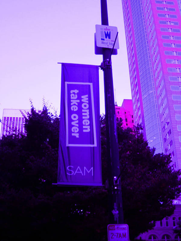 Sam Poster featuring the photograph Woman Take Over In Purple by Kym Backland