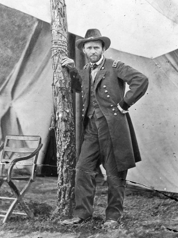 1860s Poster featuring the photograph The Civil War. Ulysses S. Grant. 1864 by Everett