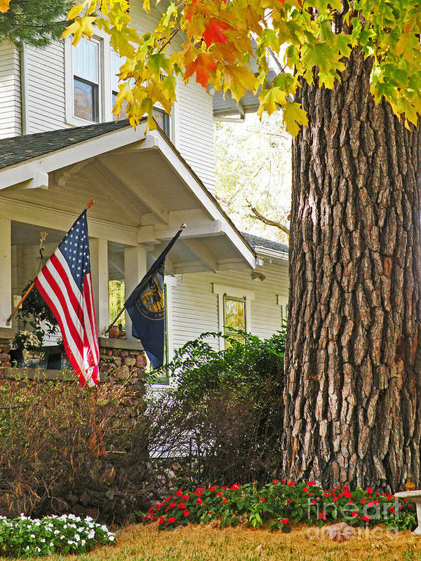 Fall Poster featuring the photograph Autumn In Small Town America by Christine Belt