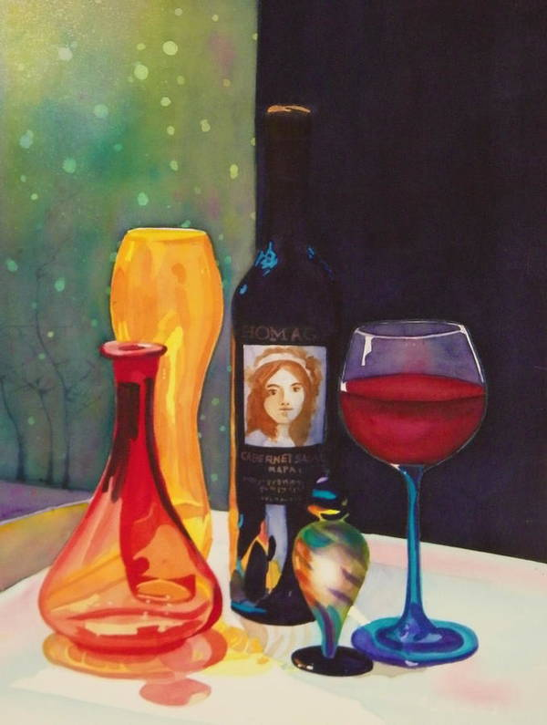 Glass Poster featuring the painting Untitled Glass by Terry Honstead