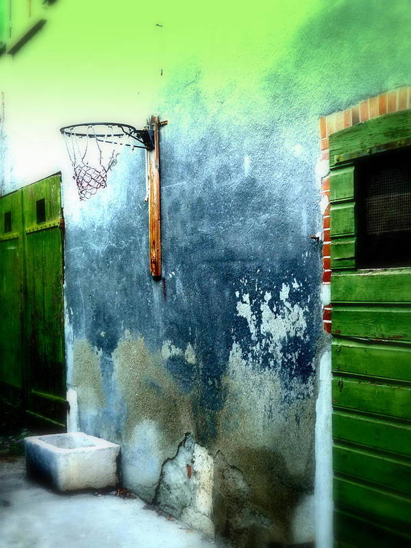 Basketball Poster featuring the photograph Basketball Court by Funkpix Photo Hunter
