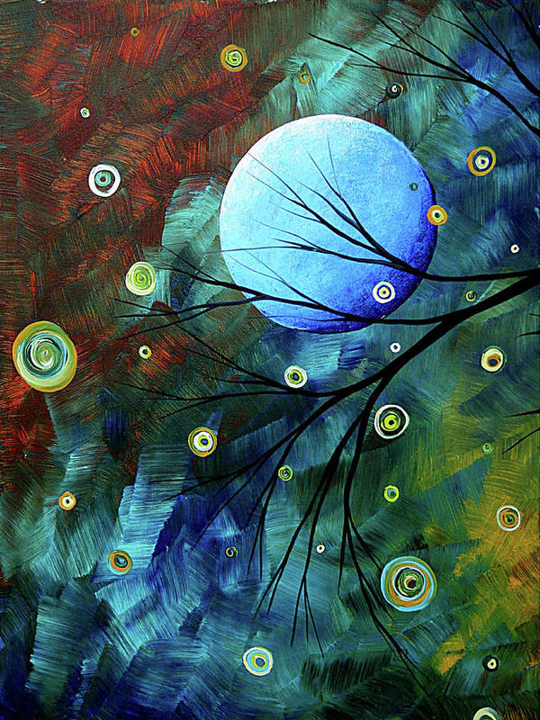 Art Poster featuring the painting Blue Sapphire 1 By Madart by Megan Duncanson