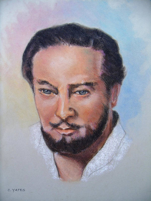 Drawing Poster featuring the pastel Cephas by Charles Yates