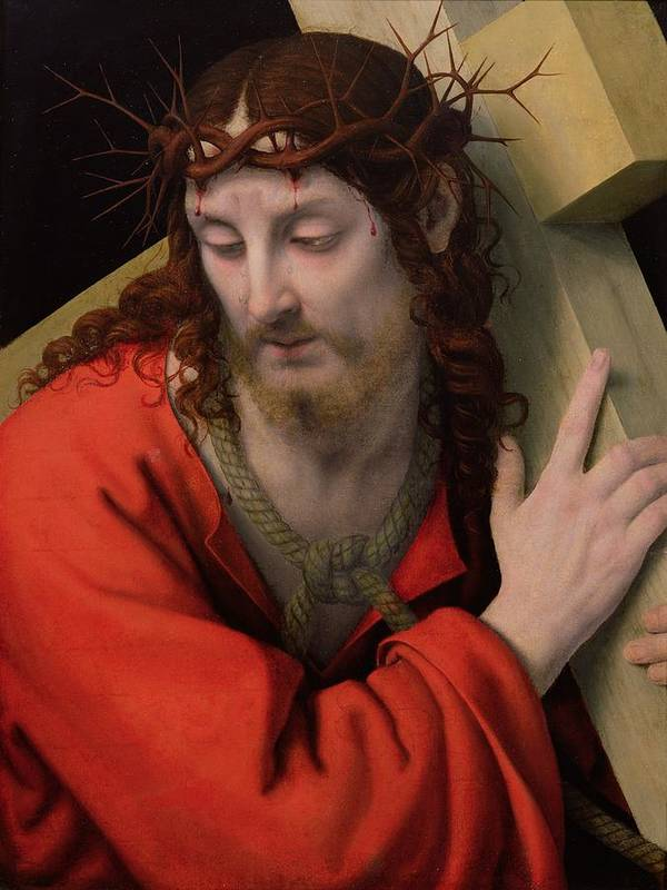 Christ Carrying The Cross Poster featuring the painting Christ Carrying The Cross by Andrea Solario