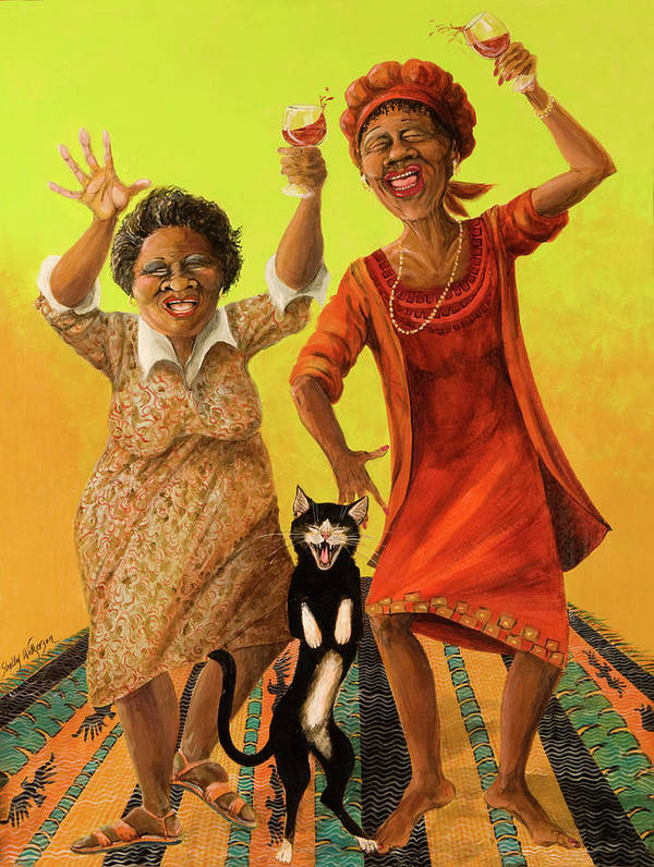 Whimsical Poster featuring the painting Dancin' Cause It's Tuesday by Shelly Wilkerson