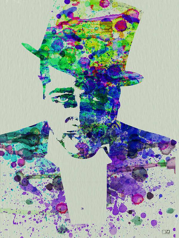 Duke Ellington Poster featuring the painting Duke Ellington by Naxart Studio
