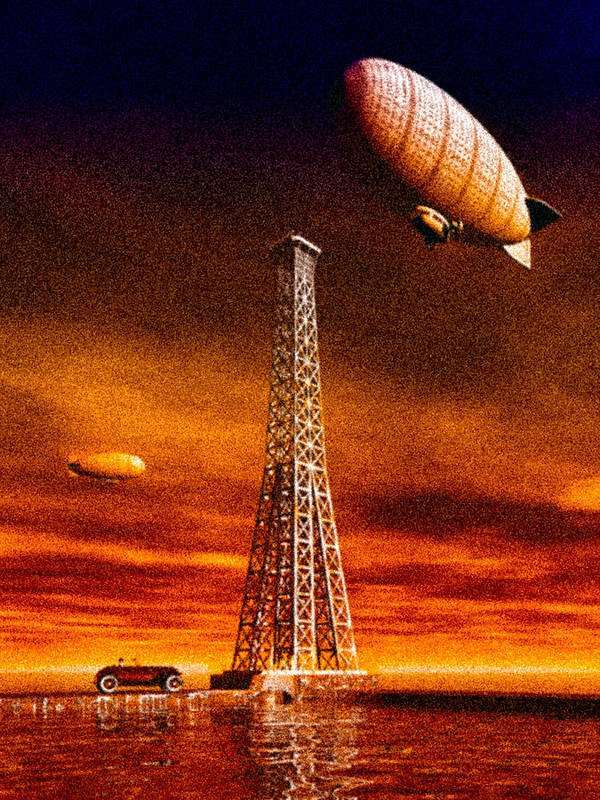 Airship Poster featuring the digital art End Of The Road by Bob Orsillo