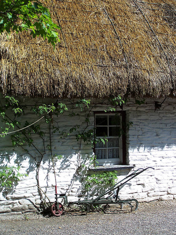 Irish Poster featuring the photograph Irish Farm Cottage Window County Cork Ireland by Teresa Mucha