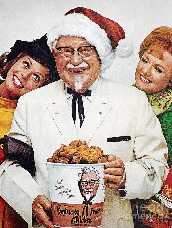 1968 Poster featuring the photograph Kentucky Fried Chicken Ad by Granger