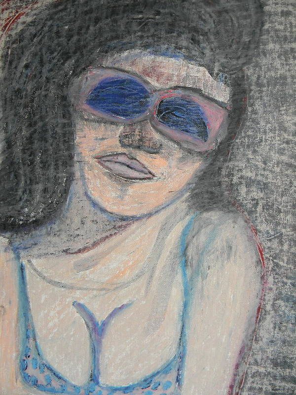 Woman Poster featuring the painting Maine Woman by Marwan George Khoury