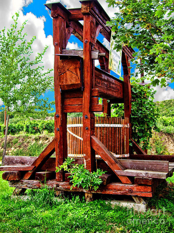 Mariola Bitner Poster featuring the photograph Old Wine Press by Mariola Bitner