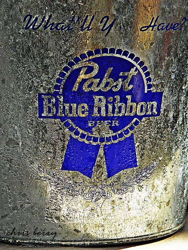 Adult Poster featuring the photograph Pbr Bucket O Beer by Chris Berry