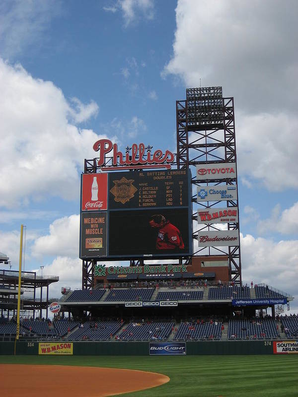 Citizens Bank Park Poster featuring the photograph Phillies by Jennifer Sweet