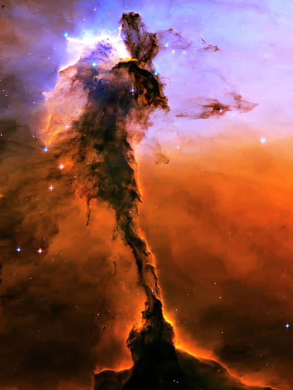 Outer Space Poster featuring the photograph Release - Eagle Nebula 2 by The Vault - Jennifer Rondinelli Reilly