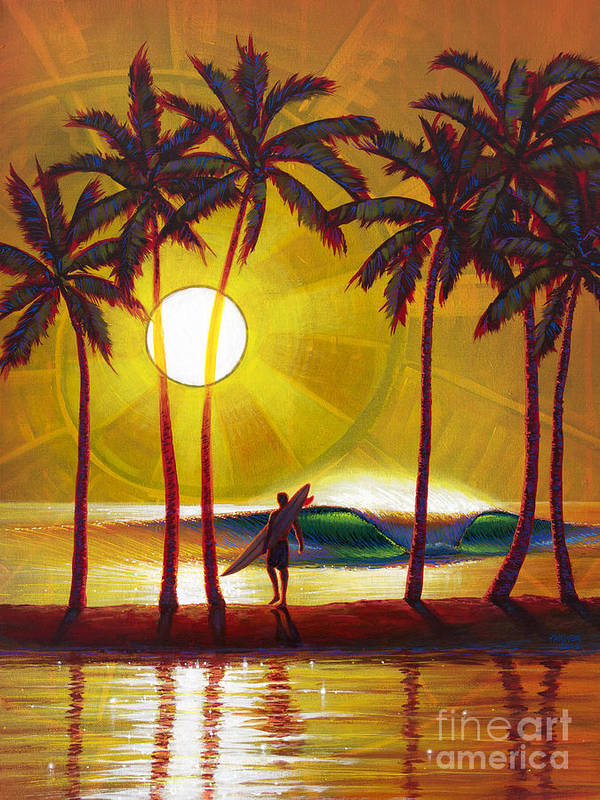 Surfer Poster featuring the painting Solitude by Patrick Parker
