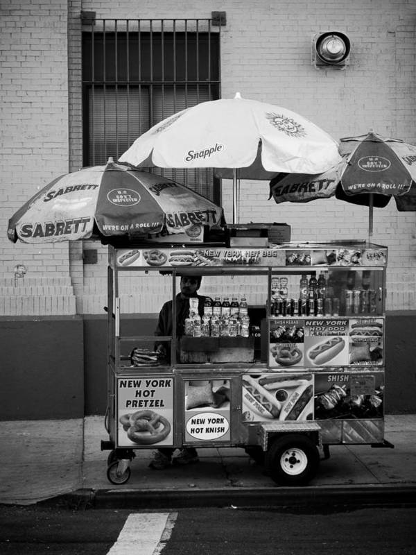 New York City Poster featuring the photograph Street Vendor by Darren Martin