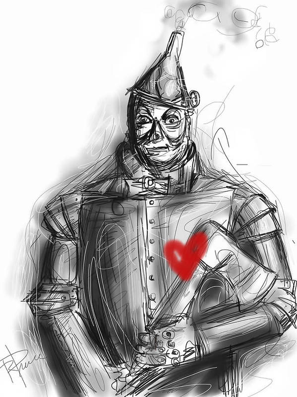 The Tin Man Poster featuring the digital art The Tin Man by Russell Pierce