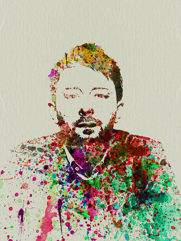 Thom Yorke Poster featuring the painting Thom Yorke by Naxart Studio