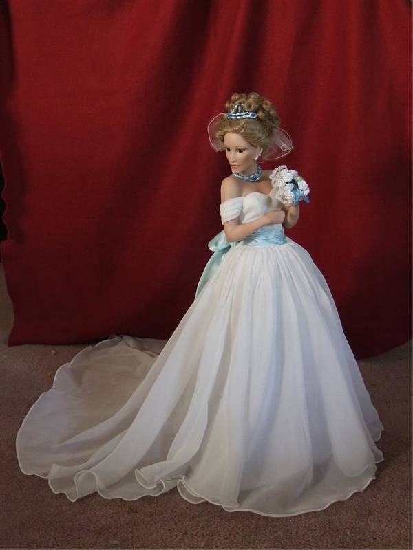 Fantasy Poster featuring the photograph Wedding Gown by Chuck Shafer