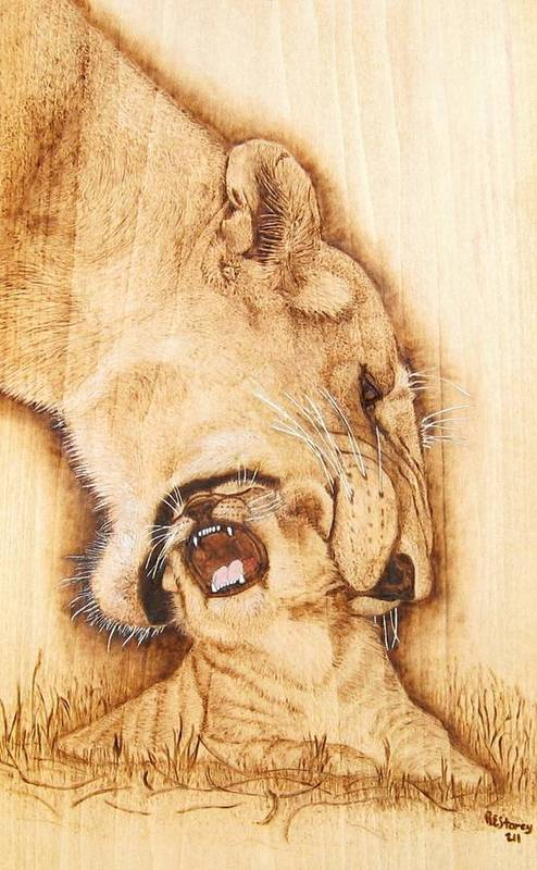 Animal Poster featuring the mixed media Pick Me Up by Roger Storey