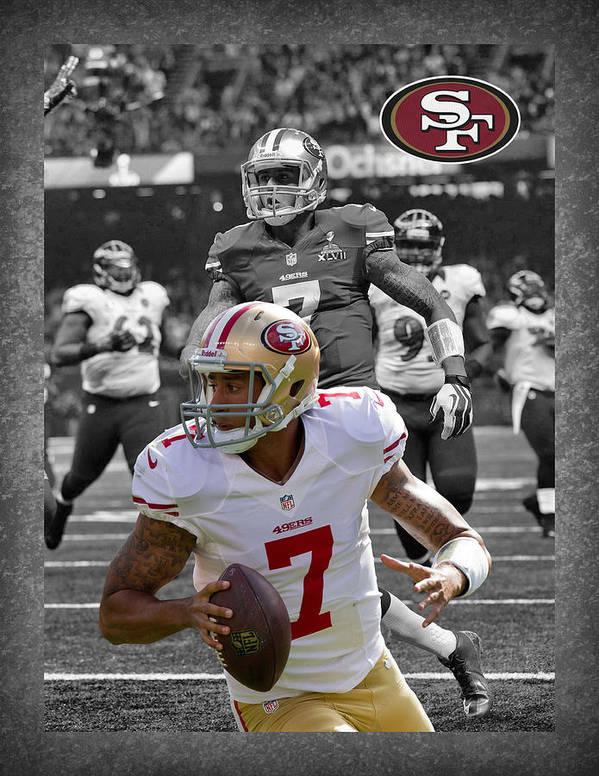 Colin Kaepernick Poster featuring the photograph Colin Kaepernick 49ers by Joe Hamilton