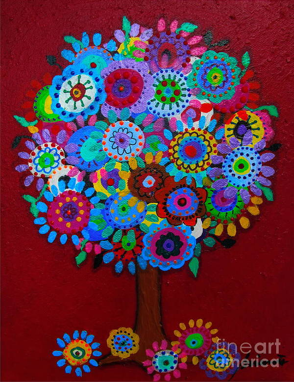 Tree Poster featuring the painting Tree Of Hope by Pristine Cartera Turkus