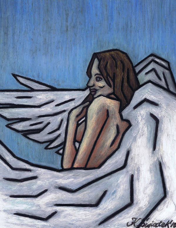 Angel Poster featuring the painting Angel by Kamil Swiatek