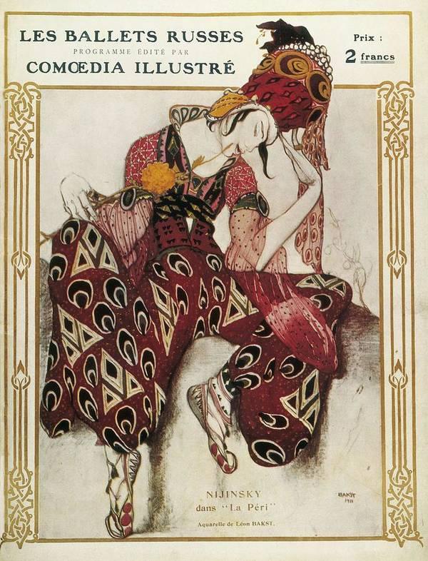Vertical Poster featuring the photograph Bakst, Léon 1866-1924. La Péri. 1911 by Everett