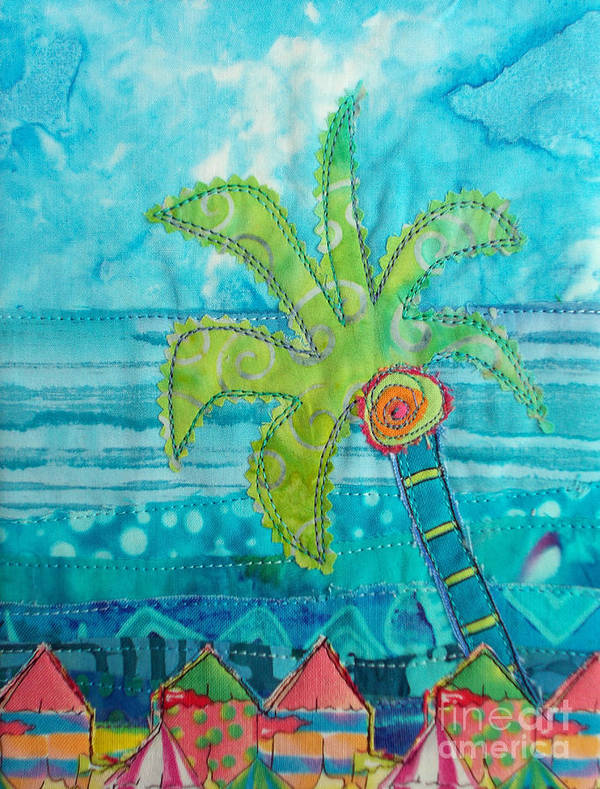 Palm Tree Poster featuring the painting Beach Fest by Susan Rienzo