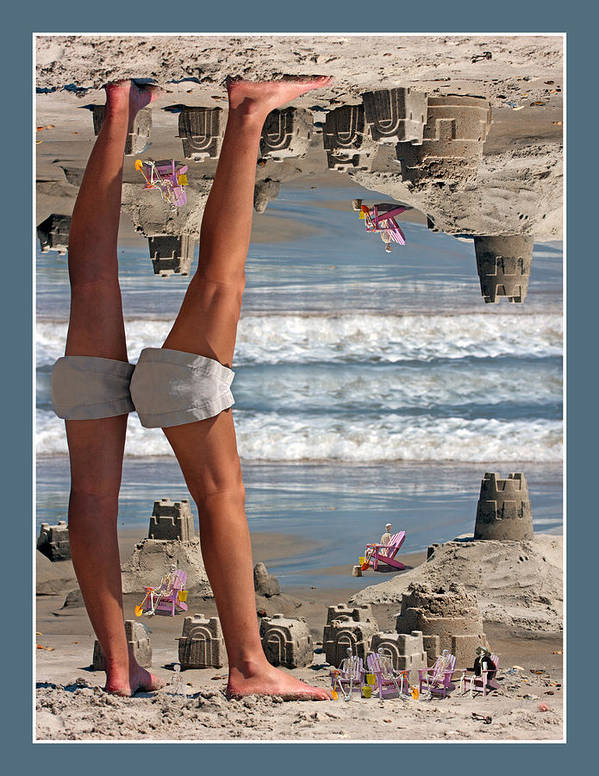 Beach Poster featuring the digital art Beach Scene by Betsy Knapp