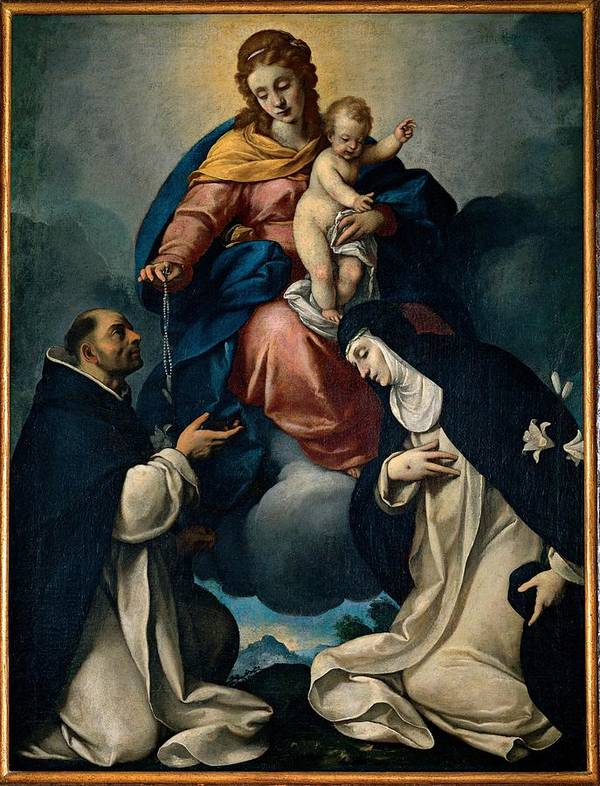Blessed Poster featuring the photograph Ceresa Carlo, Our Lady Of The Rosary by Everett