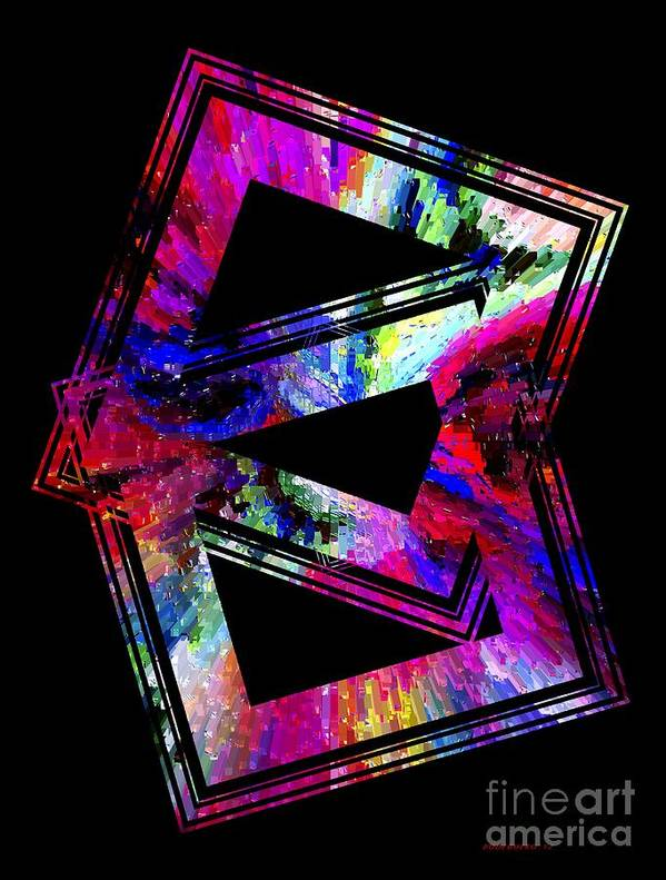 Colored Poster featuring the digital art Colored Geometric Art by Mario Perez