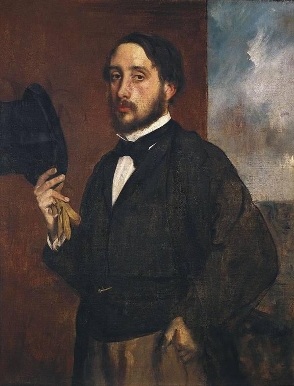 Vertical Poster featuring the photograph Degas, Edgar 1834-1917. Self-portrait by Everett