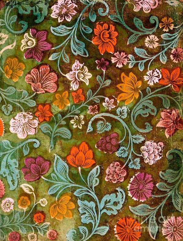 Endplate Poster featuring the tapestry - textile Endplate From A Turkish Book by Turkish School