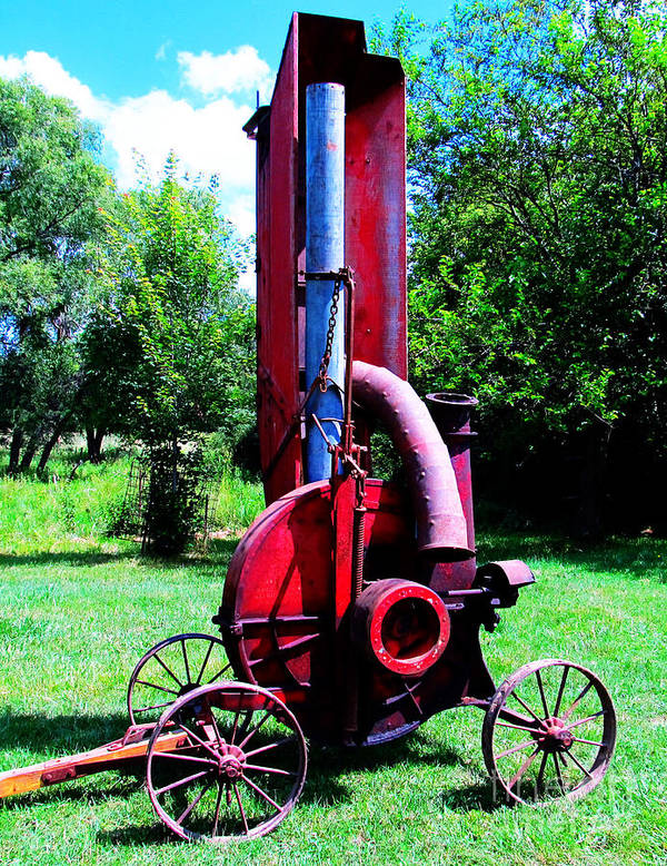 Barns Poster featuring the photograph Old Farm Machinery by Tina M Wenger