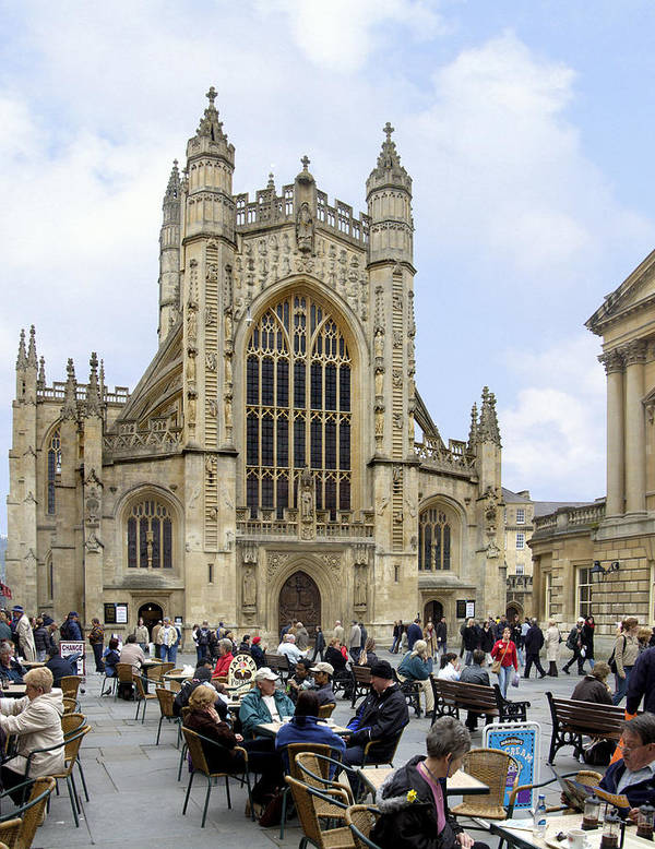 Gathering Spot Poster featuring the photograph The Abby At Bath by Mike McGlothlen