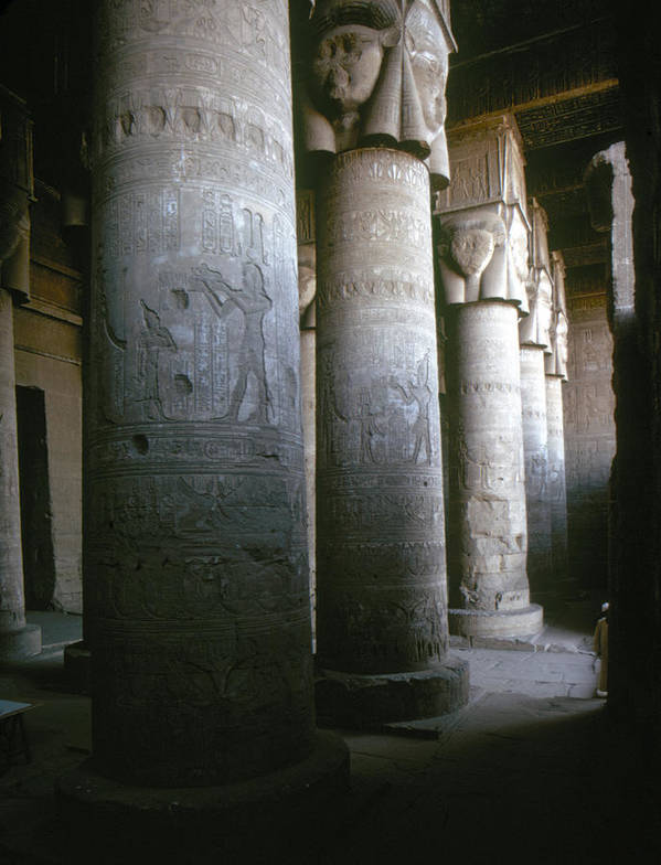 1st Century B.c. Poster featuring the photograph Egypt: Temple Of Hathor by Granger