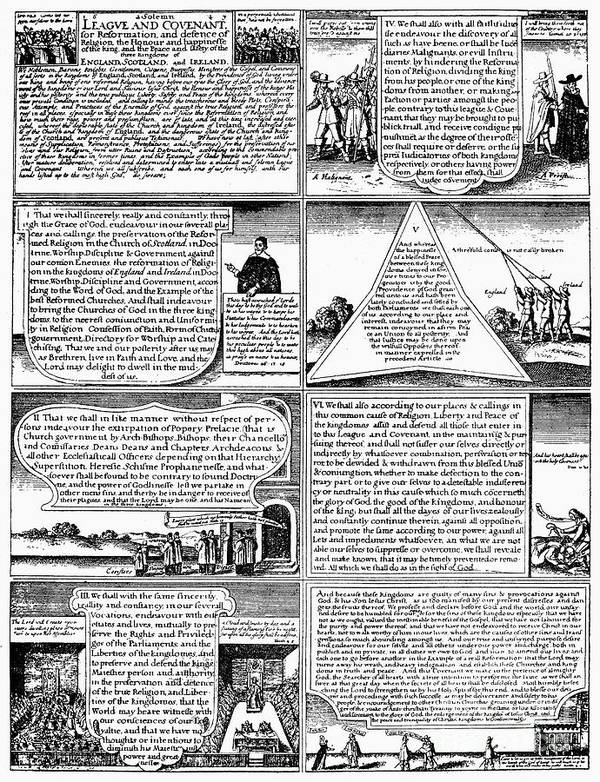 1643 Poster featuring the photograph Solemn League And Covenant by Granger