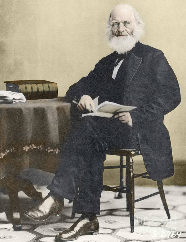 History Poster featuring the photograph William Cullen Bryant, American Poet by Science Source