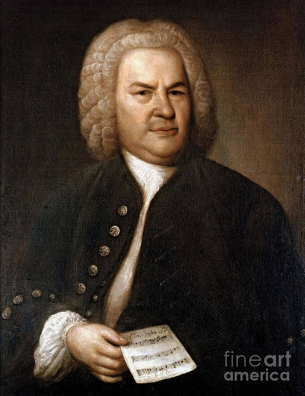 Art Poster featuring the photograph Johann Sebastian Bach, German Baroque by Photo Researchers