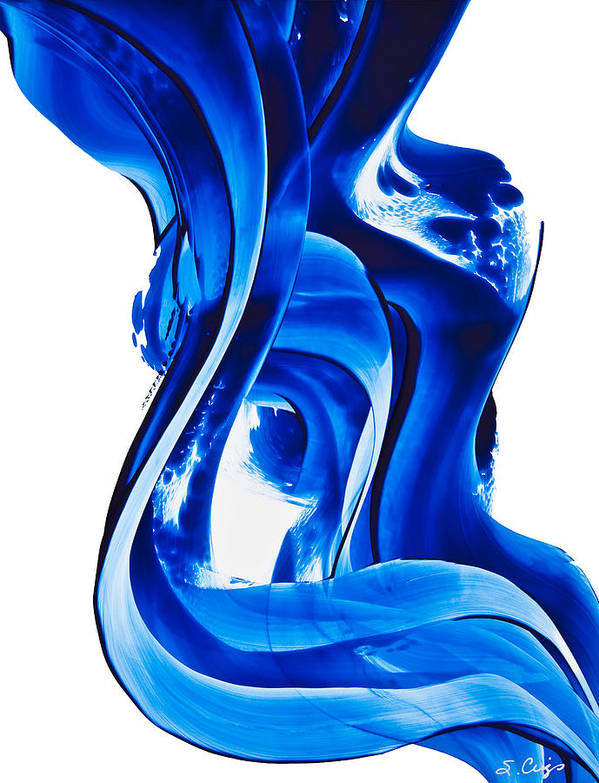 Abstract Art Poster featuring the painting Pure Water 66 by Sharon Cummings
