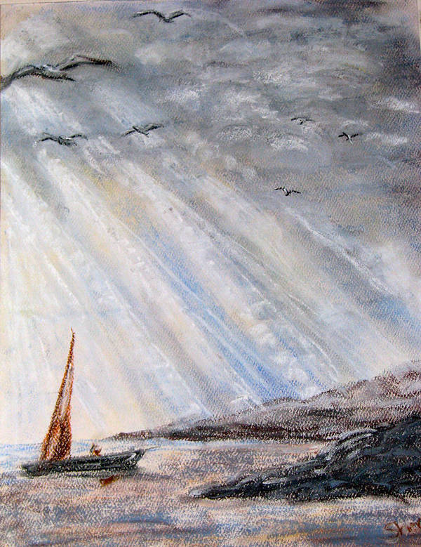 Pastel Poster featuring the pastel After The Storm by Sherlyn Andersen