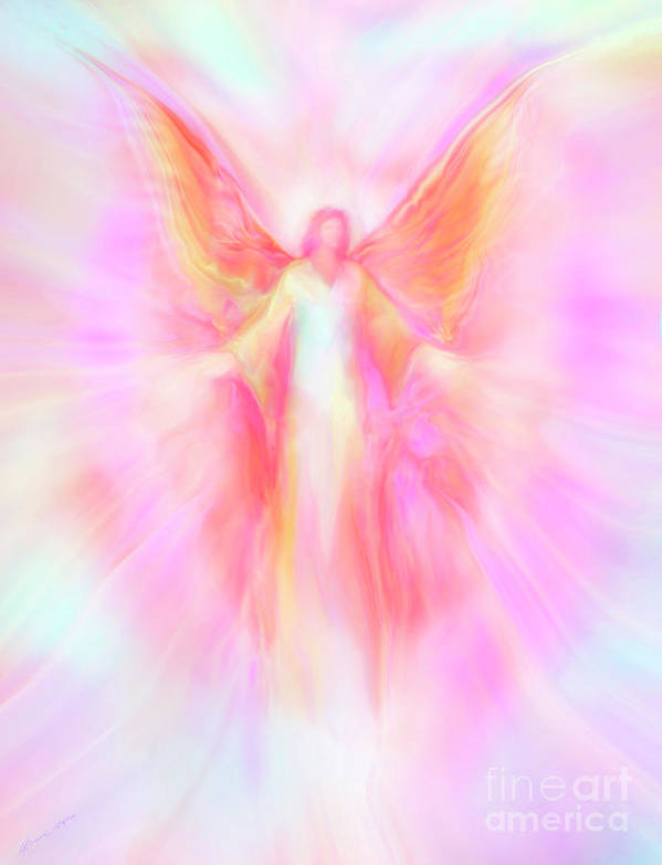Archangels Poster featuring the painting Archangel Metatron Reaching Out In Compassion by Glenyss Bourne