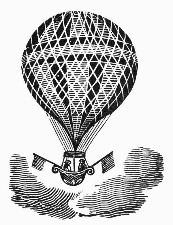 19th Century Poster featuring the photograph Hot Air Balloon by Granger