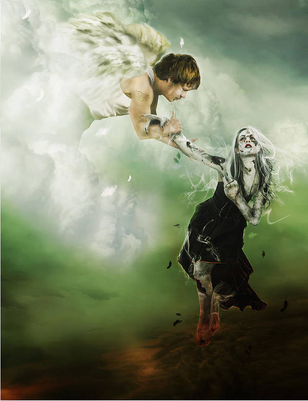 Emotional Poster featuring the digital art Let Me Go by Mary Hood