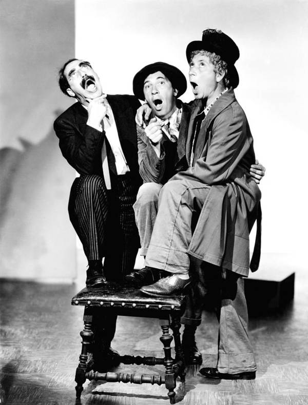 1930s Portraits Poster featuring the photograph Marx Brothers, The Groucho, Chico by Everett