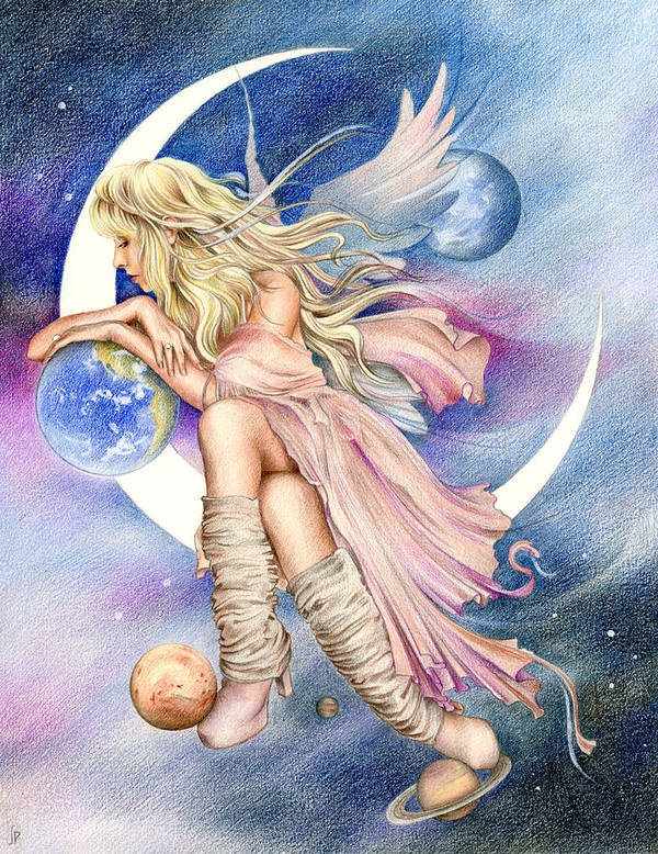 Stevie Nicks Poster featuring the drawing Planets Of The Universe by Johanna Pieterman
