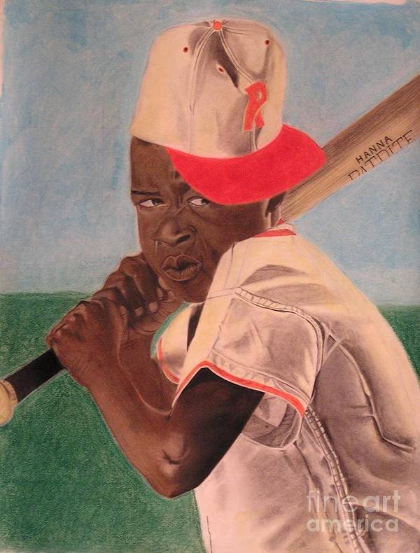 Pastel Portriats Poster featuring the pastel Slugger by Wil Golden